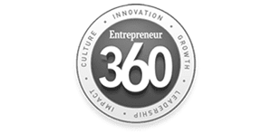gray and white Entrepreneur 360 logo again